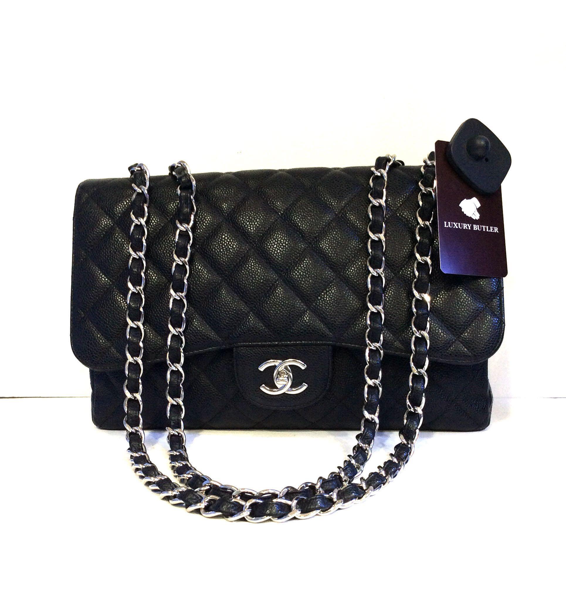 791799cf3483 Preloved Chanel Classic Flap Caviar Leather Bag, Women's Fashion ...