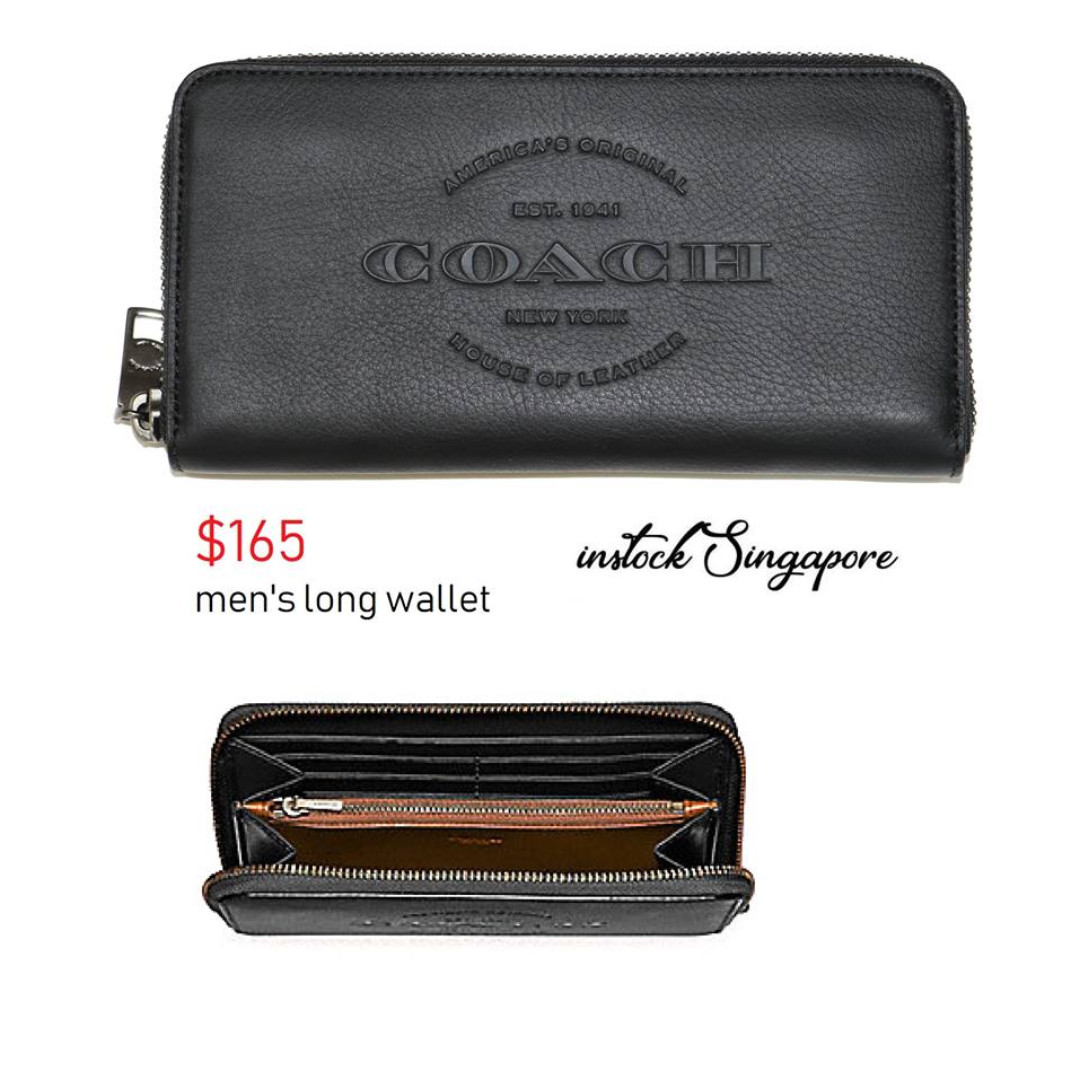 74c5720255 READY STOCK authentic new Coach ACCORDION WALLET (COACH F24648) full  leather men's wallet