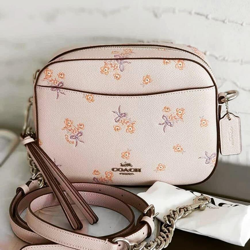 a596c3a6406 💥SALE Coach camera bag floral bow print pink, Luxury, Bags ...