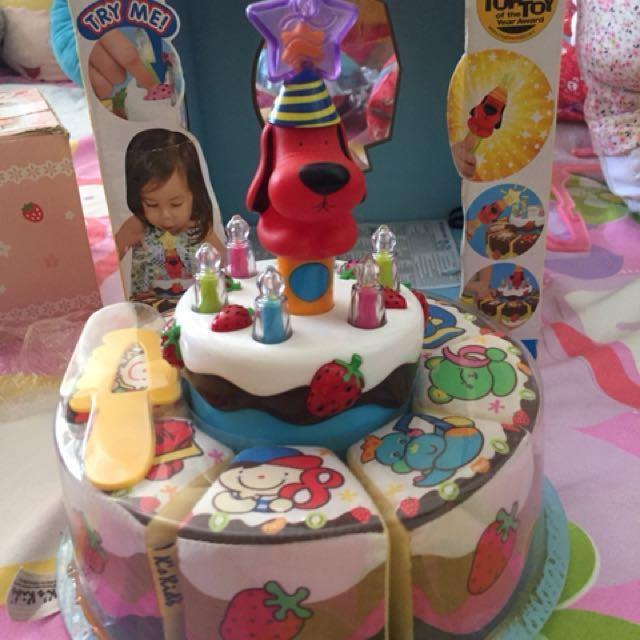 Peachy Singing Birthday Cake Repriced On Carousell Personalised Birthday Cards Paralily Jamesorg