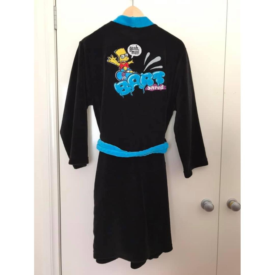 Size 14 Boys Guc polar fleece Target / Bart Simpson cartoon robe Also fits Men size XS
