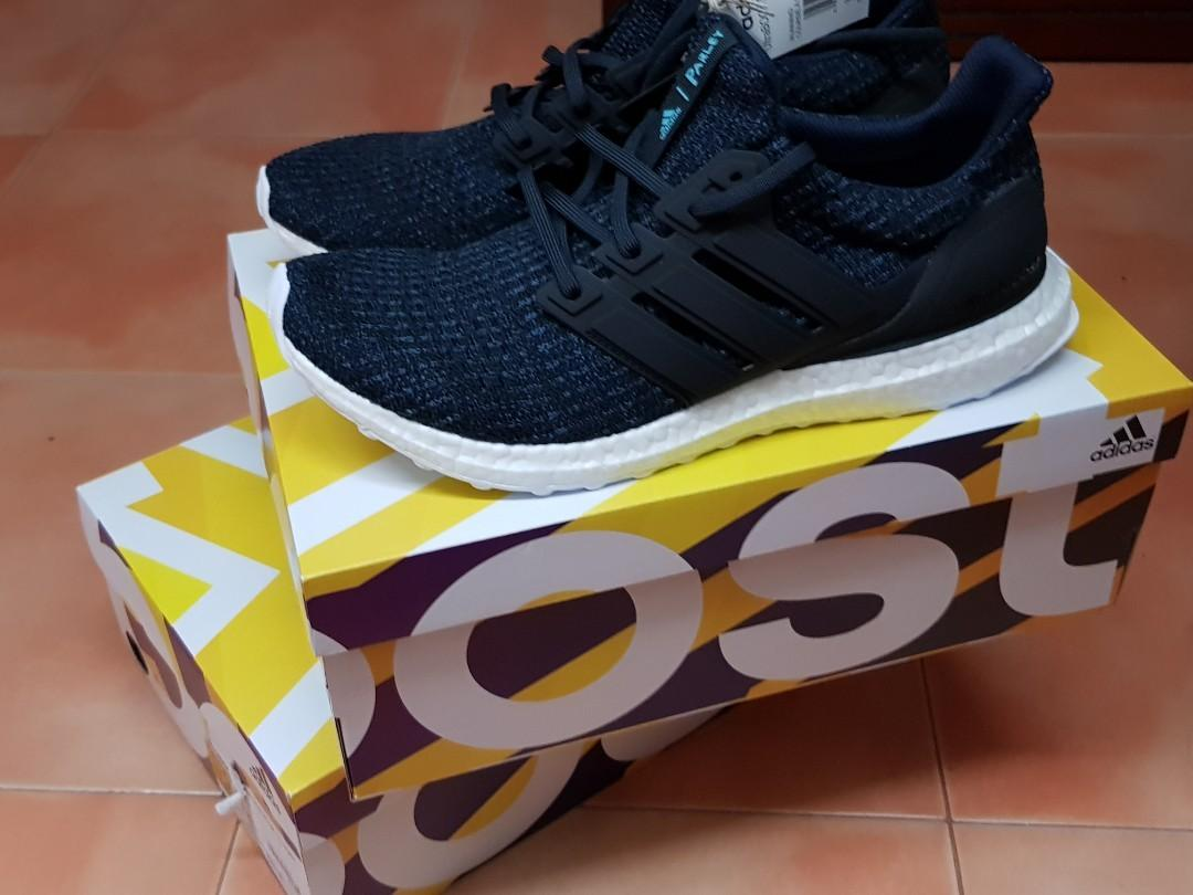 separation shoes 06cf3 69784 100% Authentic Adidas Ultra Boost 4.0 Parley, Men's Fashion ...