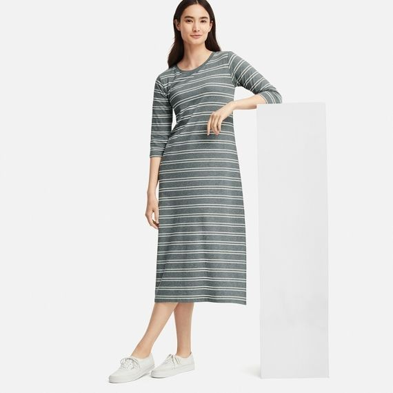 1dc1ac039248a Uniqlo women 3 4 sleeve bra dress