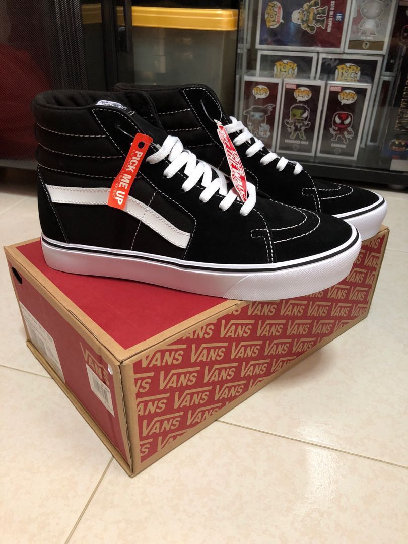 Vans Sk8-Hi Lite (Suede canvas) Black white Men s US 10 18ac4ed85