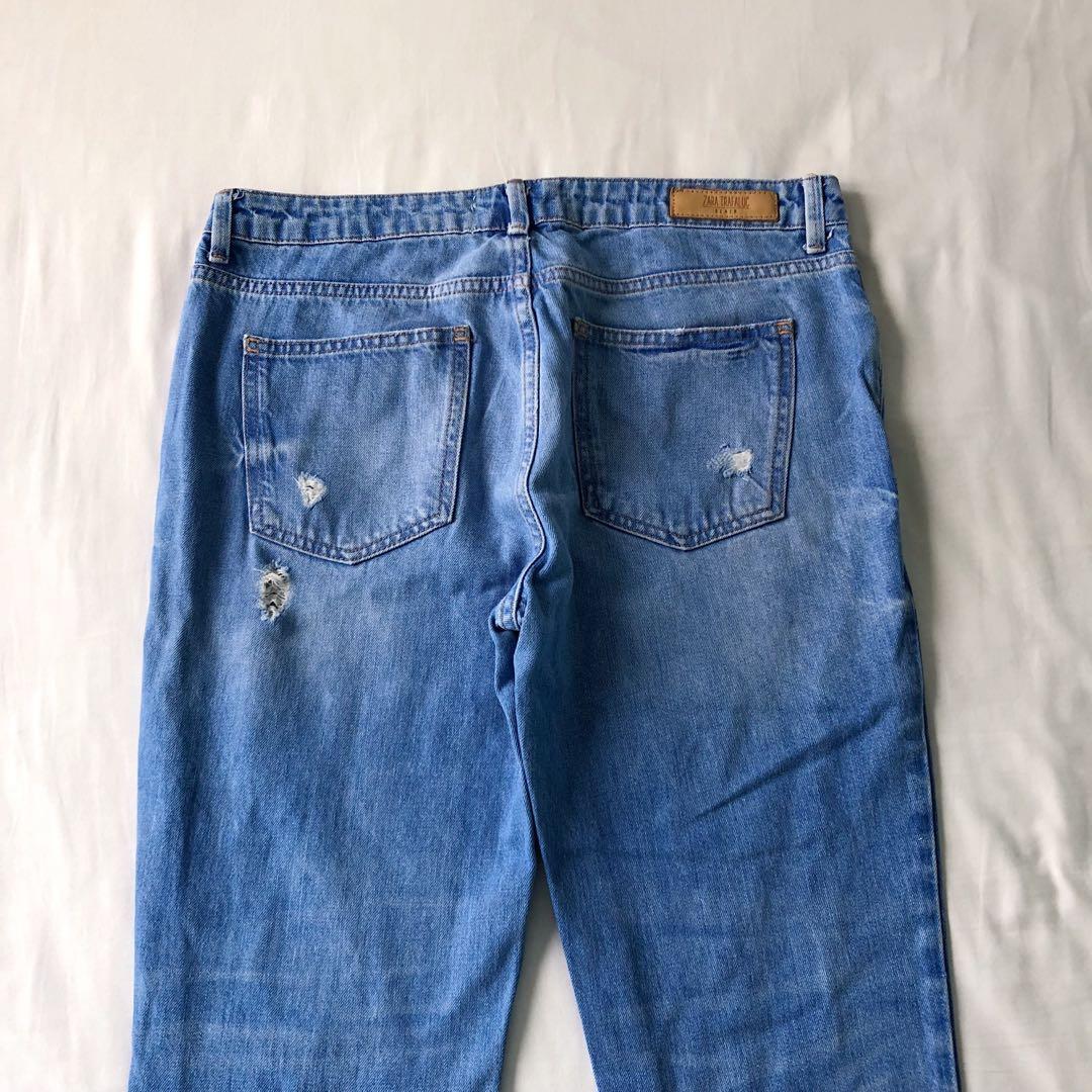Zara Trafaluc Ripped Blue Denim Jeans