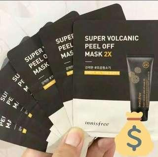 Innisfree Super Volcanic Peel Off Mask 2x (sample size)