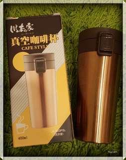 🚚 🎋大降價🈵️川本之家 真空咖啡杯-流沙金