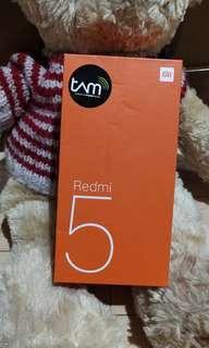 Kotak handphone xiaomi redmi 5 black #bersihbersih