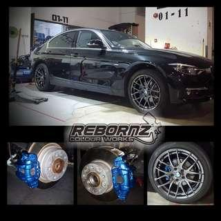 Rims and calipers spray service
