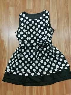 Polka dots flare dress