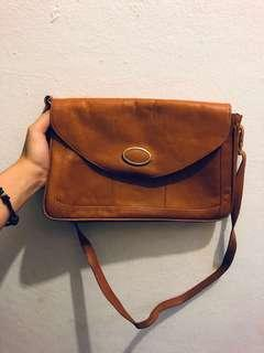 A4 size Brown Sling Bag