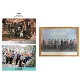 Wanna One Poster 海報3張 包平郵 (海報筒寄)