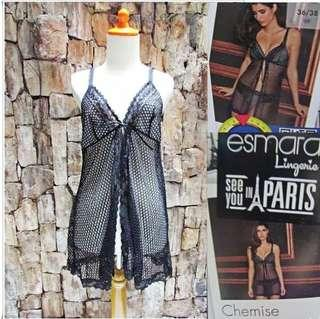 NEW Size L Lingerie Esmara Sheer Lace Black Eksport
