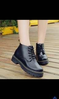 Dr. Martens inspired black boots