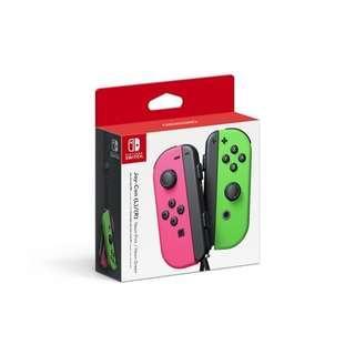 (BNIB) Nintendo Switch Joy-Con Controllers Neon Pink & Neon Green
