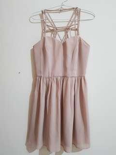 #bersihbersih Forever 21 Nude Mini Dress