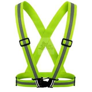 BN Safety Elastic Strip Vest - Green