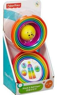 Fisher Price Stack&Roll Cups