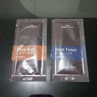 Shiseido FOR MEN HAIR TONIC & WAX SACHET