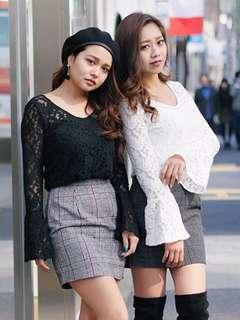 全新 日牌lip service 黑色蕾絲拼千島格連身裙 100%new 日本涉谷109vivi雜誌示範 超顯瘦