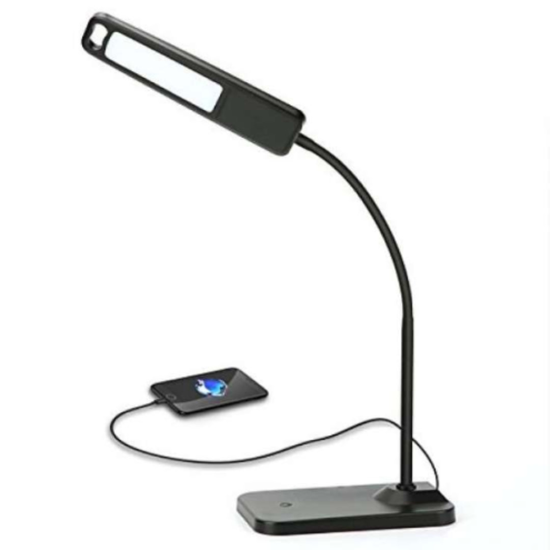 0080_Desktop Lamp, HQOON Office Desk Lamp With USB Charging Ports, Eye Care  LED Reading Light , Bedside Touch Sensor Table Lamps (3 Lighting Modes, ...