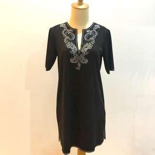 Zara Black Suede Dress