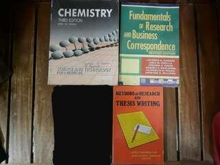 Chemistry, Methods of Research, Business Correspondence