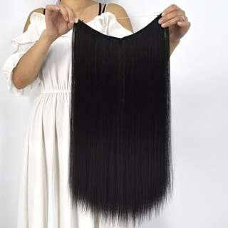 #mmar18 Invisible Line Jet Black Hair Extension