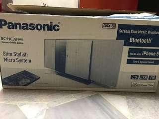 Panasonic SC-HC38 slim stylish micro system