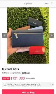 Authentic BN Michael Kors long wallet