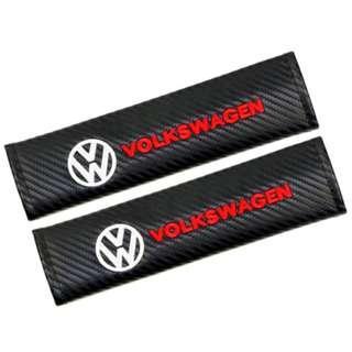 Carbon Fiber Seatbelt Cover (Car Logo Style)