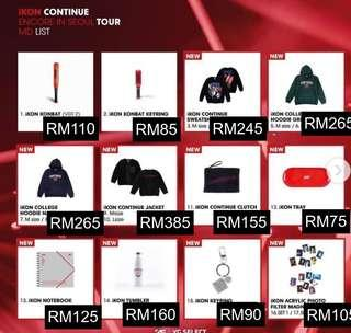 [SPECIAL ORDER] iKON CONTINUE ENCORE IN SEOUL TOUR MD LIST