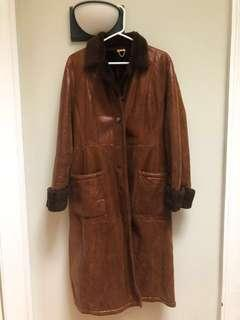 Salvatore ferragamo shearling coat