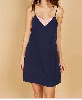 Playdress Navy Blue & Pink dress.