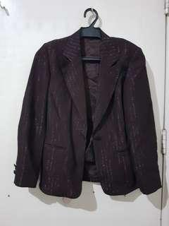 brown sparkly formal blazer