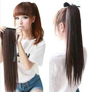 Deep Brown Pony Hair Extension #mmar18