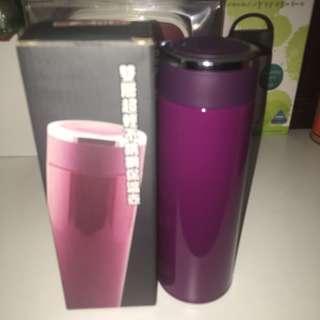 保溫瓶 保溫壺 全新 紫色 如圖所示