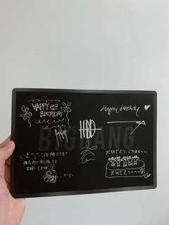 Bigbang VIP Japan birthday card