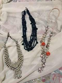 3 Long Necklaces