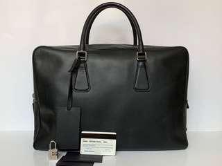 Authentic Prada Black Saffiano Document Bag