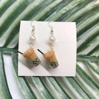 🚚 🐷*CNY SPECIAL* cute bubble milk tea earrings