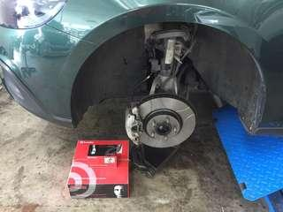Volvo V40👉2014 Installed Brembo Rotors With Brembo Pads Front N Rear
