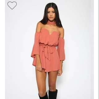 Peppermayo Kathleen Playsuit - Dusty Pink