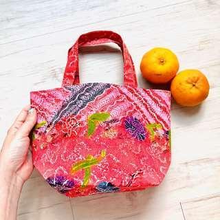 Batik CNY Mandarin Orange Bag Handmade in Singapore