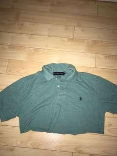 polo cropped tee shirt