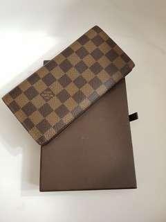 Authentic Louis Vuitton Long Wallet Damier