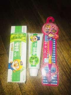 Authentic Pororo Toothpaste and Tooth brush from Korea