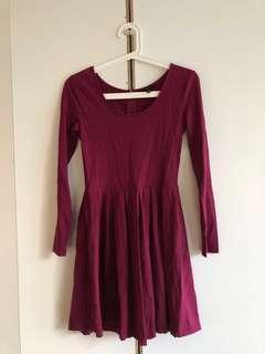 Talula long sleeved dress size small
