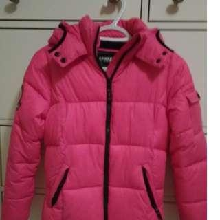 Hawk and Co hot pink puffer jacket size 14