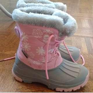 High-tech pink snow boots size 3